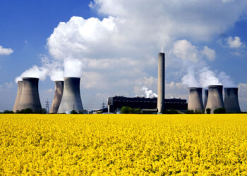 The end of the nuclear plant in Sholine city