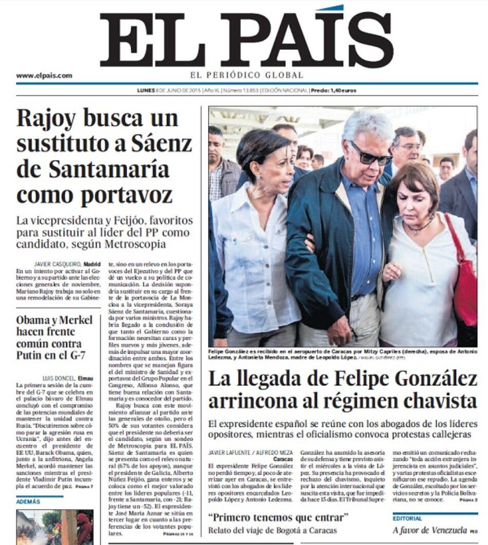 """Felipe González """"arrincona al régimen chavista"""" mientras la FAO premia el trabajo en la reducción de la pobreza y el hambre en Venezuela"""