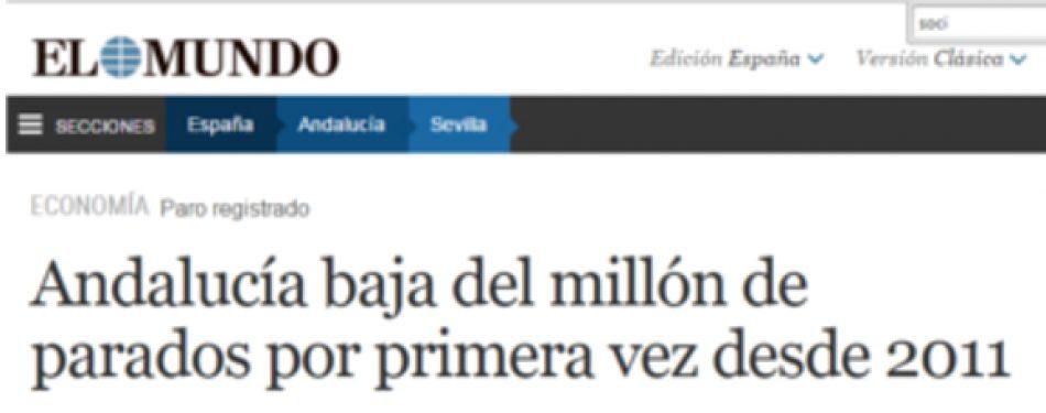 """¿Como es posible que Andalucía encabece la """"bajada del paro""""…y la destrucción de empleo?"""