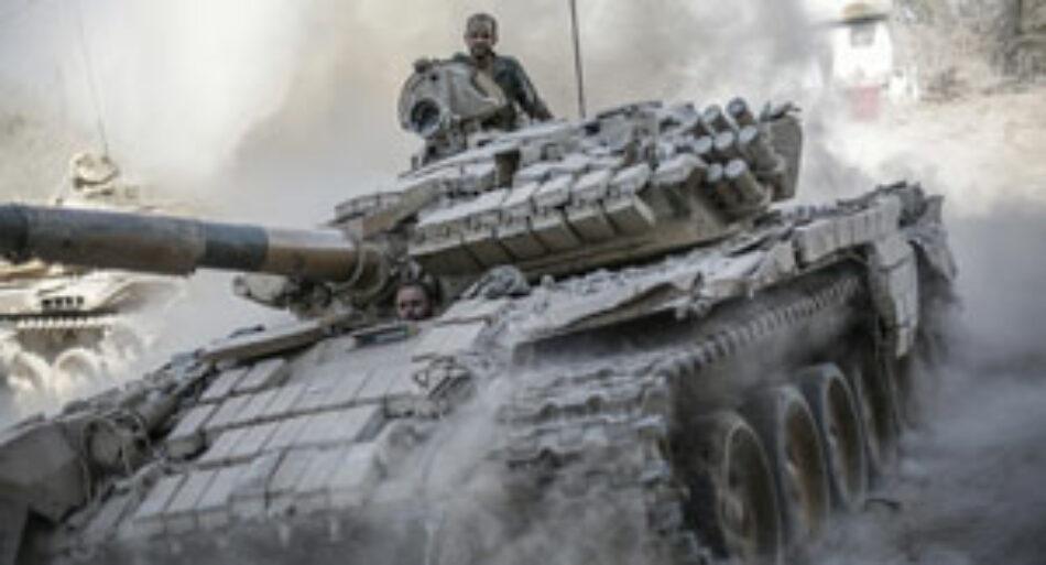 Ejército sirio estrecha su cerco y pone en jaque a bandas terroristas