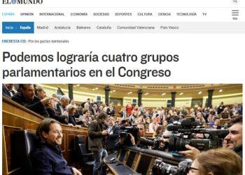 Censura contra IU-UP y brocha gorda para Podemos en las encuestas