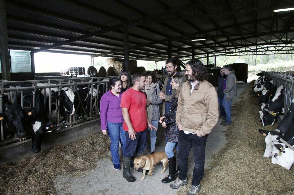 En Marea reivindica prezos xustos para o leite para manter vivo o rural e o emprego no sector primario