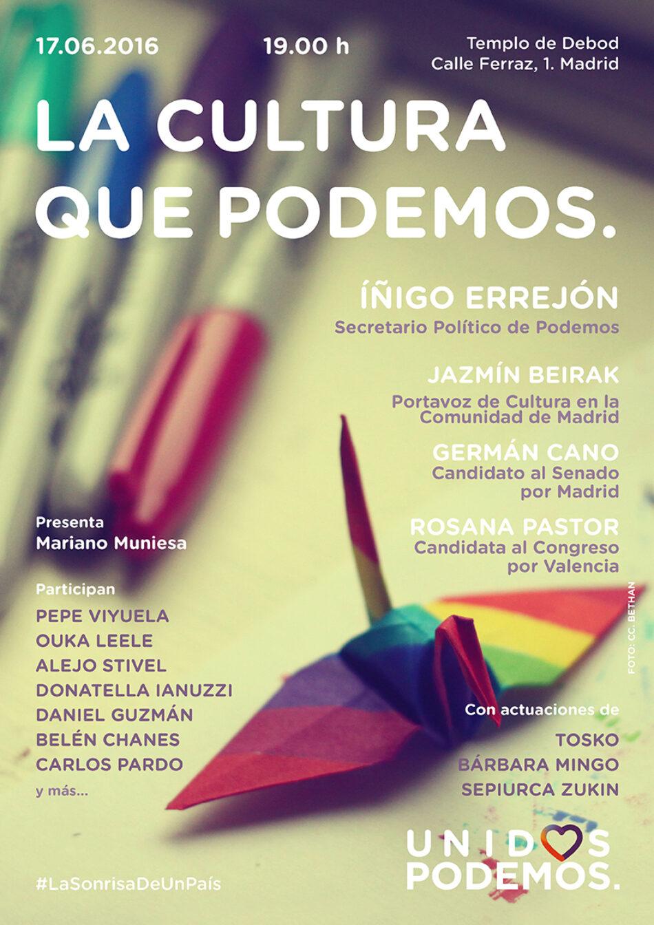 'La cultura que podemos' se presenta en Madrid