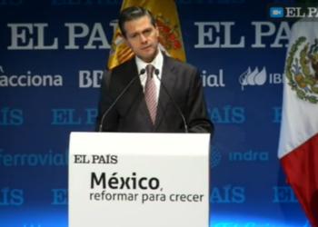 """""""El País"""" se alinea con el presidente Peña Nieto"""