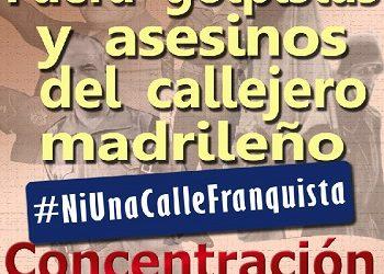 Concentración 29 de junio bajo el lema «Fuera golpistas y asesinos del callejero madrileño»