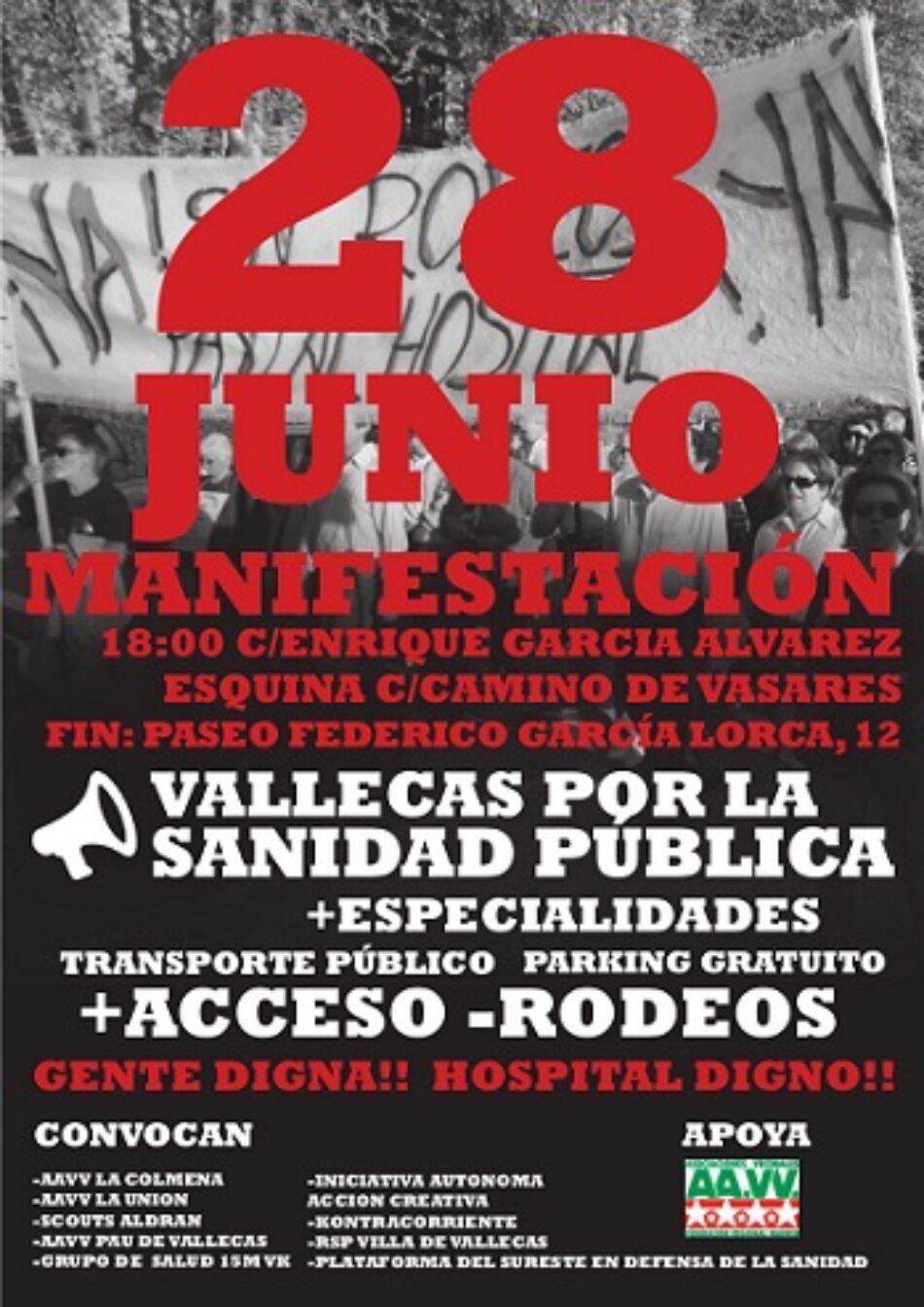 Los vallecanos salen a la calle en defensa del Hospital Infanta Leonor