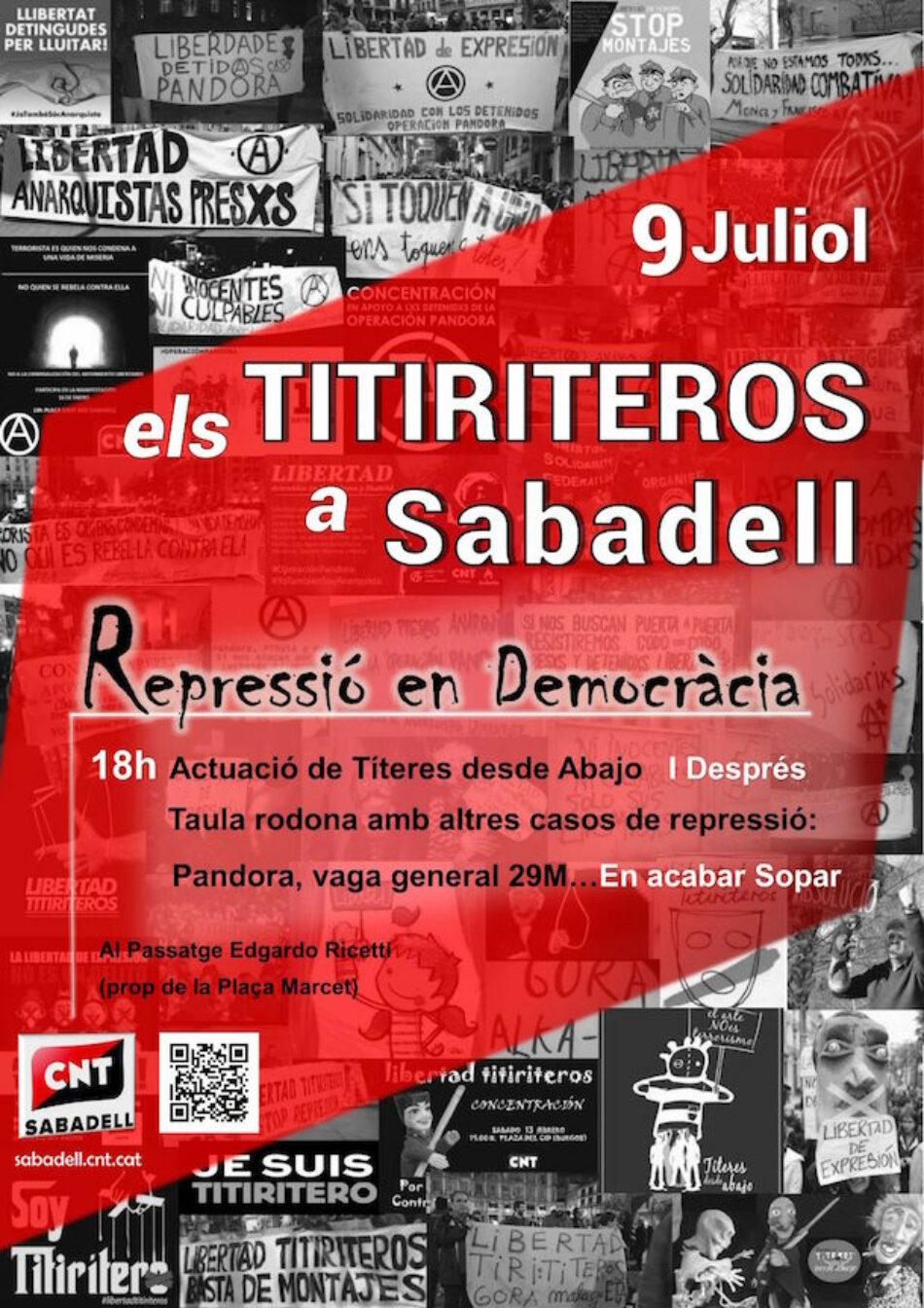 'Títeres desde Abajo', «Els Titiriteros» actuarà a Sabadell