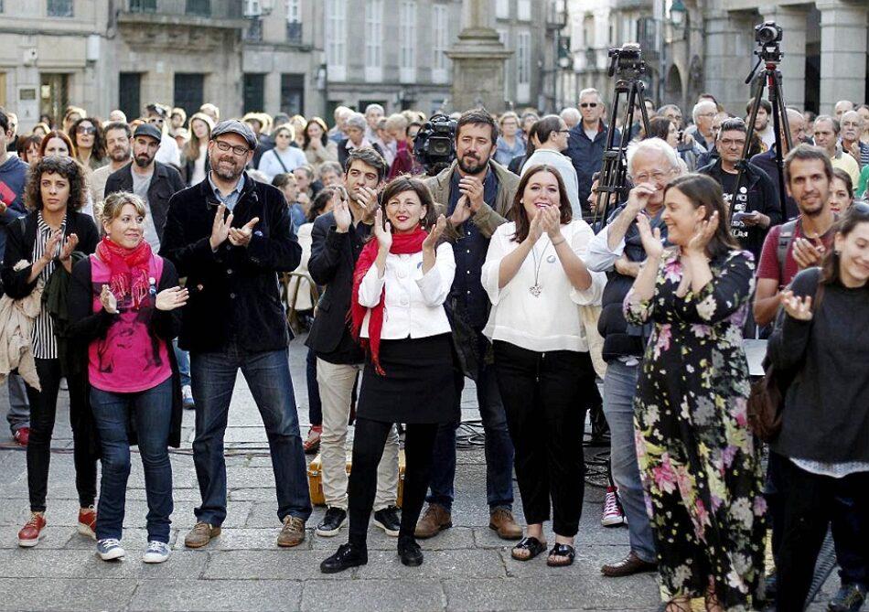 En Marea comprométese a seguir traballando «polo cambio político» pese á perda de voto urbano en Galicia