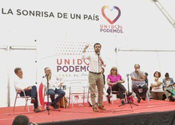 Garzón reclama al PSOE que «no se equivoque de adversario» frente a un PP que «ha traído la miseria económica y corrupta»