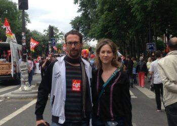 IU muestra en París «todo su apoyo y solidaridad con la digna lucha de los trabajadores franceses contra la reforma laboral que ataca sus derechos»