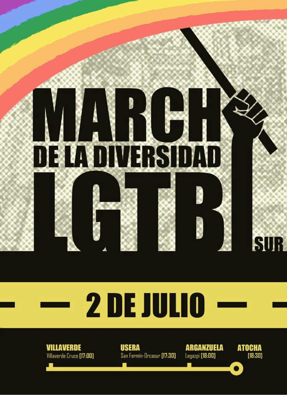 Marcha de la diversidad LGTBI en Villaverde y Usera: el Sur hace historia
