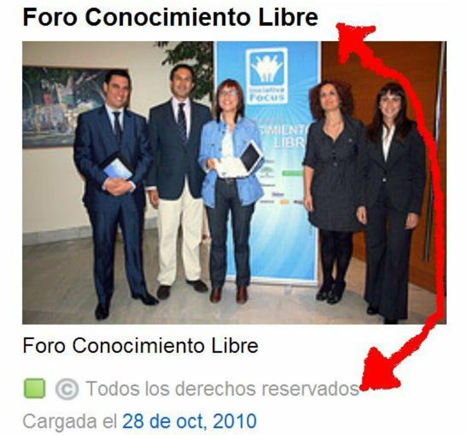 La actitud del PSOE respecto al conocimiento libre resumida en una imagen