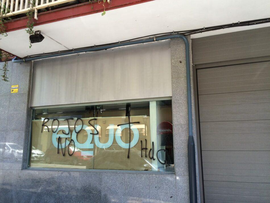 Atacan la sede de EQUO en Madrid con pintadas fascistas