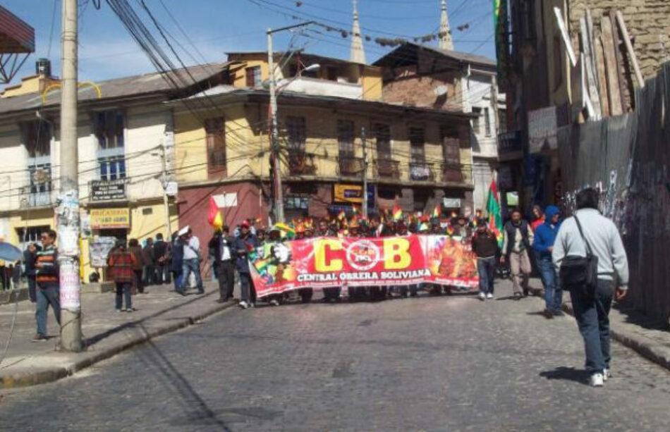 Bolivia: Encontronazos entre la COB y el gobierno de Evo
