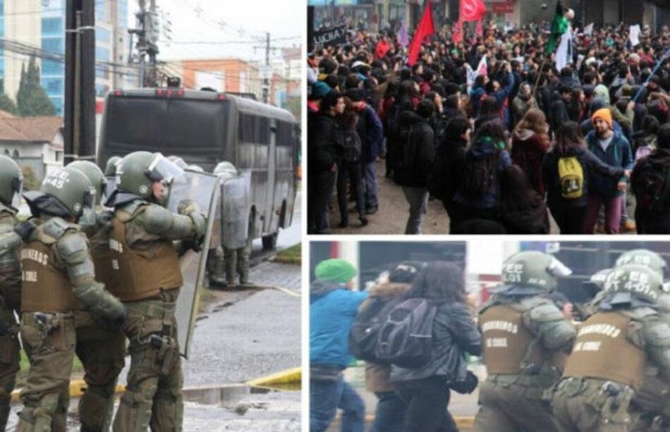 Chile: Represión a movimiento estudiantil mientras éste denuncia censuras y prácticas empresariales