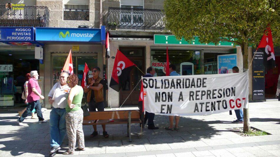 Galicia se moviliza ante las sedes de Movistar Atento
