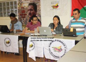 Marcha Patriótica de Colombia Capítulos Europa se reunión en Rennes (Francia)