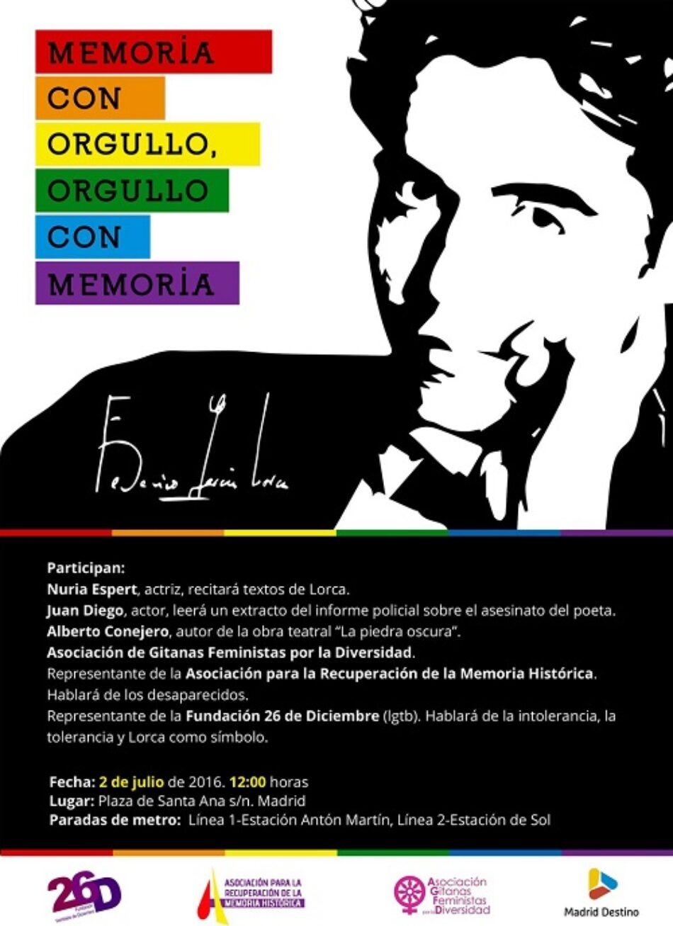 Homenaje a García Lorca en el día del orgullo gay: orgullo con memoria