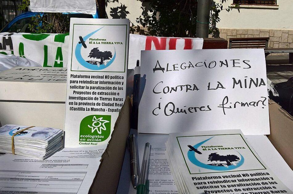 Sí a la Tierra Viva pide que no se utilicen las vacaciones para abrir el procedimiento de evaluación ambiental de los proyectos mineros de tierras raras en Castilla-La Mancha