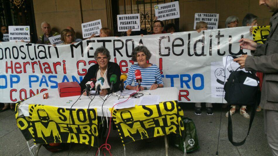 8.916 donostiarras firman por la paralización de la pasante del Metro y la petición de una consulta popular
