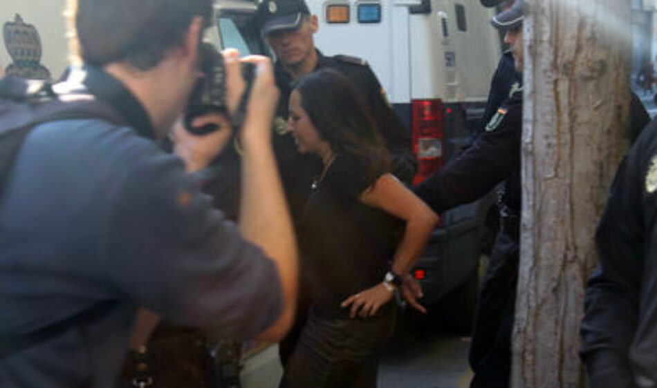 Concentración por la absolución de las 12 personas detenidas el 11 de noviembre de 2015 en una sede del Santander