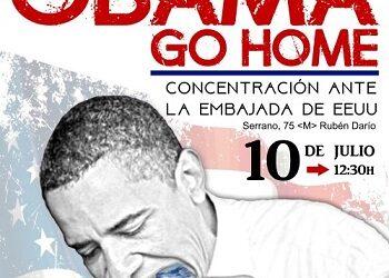 «Obama go home»: Protesta en Madrid contra la visita del presidente de EE.UU.