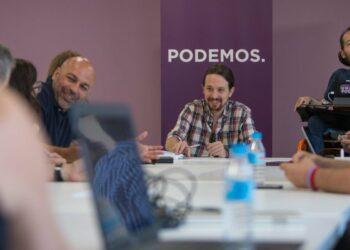 Pablo Iglesias, con los secretarios generales autonómicos: «Somos la fuerza política con más futuro de España»