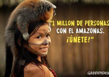 Acciones de Greenpeace en 21 sedes de Siemens para pedirle que no colabore con la destrucción de la Amazonia