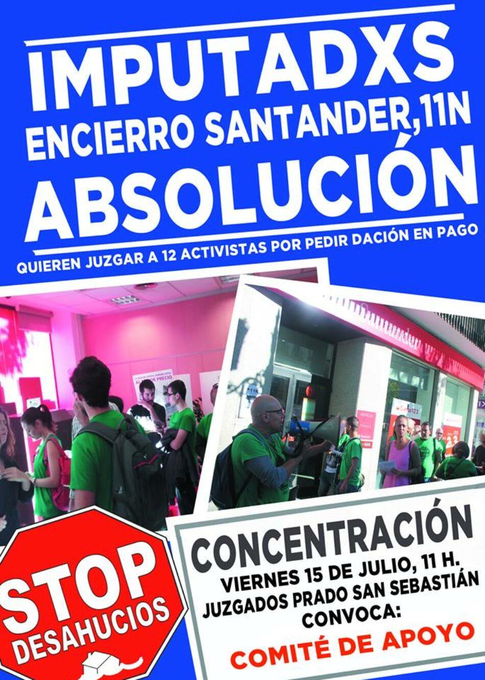 APDHA Sevilla apoya a las personas activistas imputadas por la ocupación pacifica en la sucursal del banco Santander