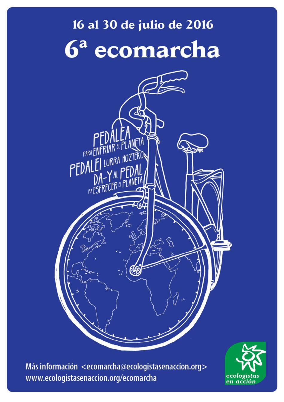 """Arranca la 6ª Ecomarcha bajo el lema: """"Pedaleando para enfriar el planeta"""""""