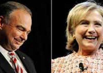 Clinton llega a Virginia junto a Tim Kaine, probable vicepresidente