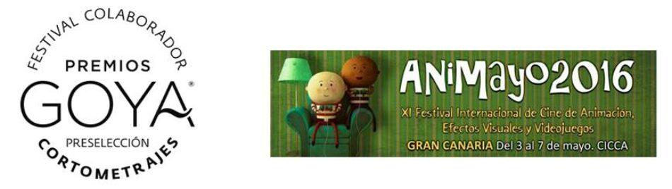 ANIMAYO: Festival Colaborador de la 31 edición de los Premios Goya® en la categoría de Mejor Cortometraje de Animación