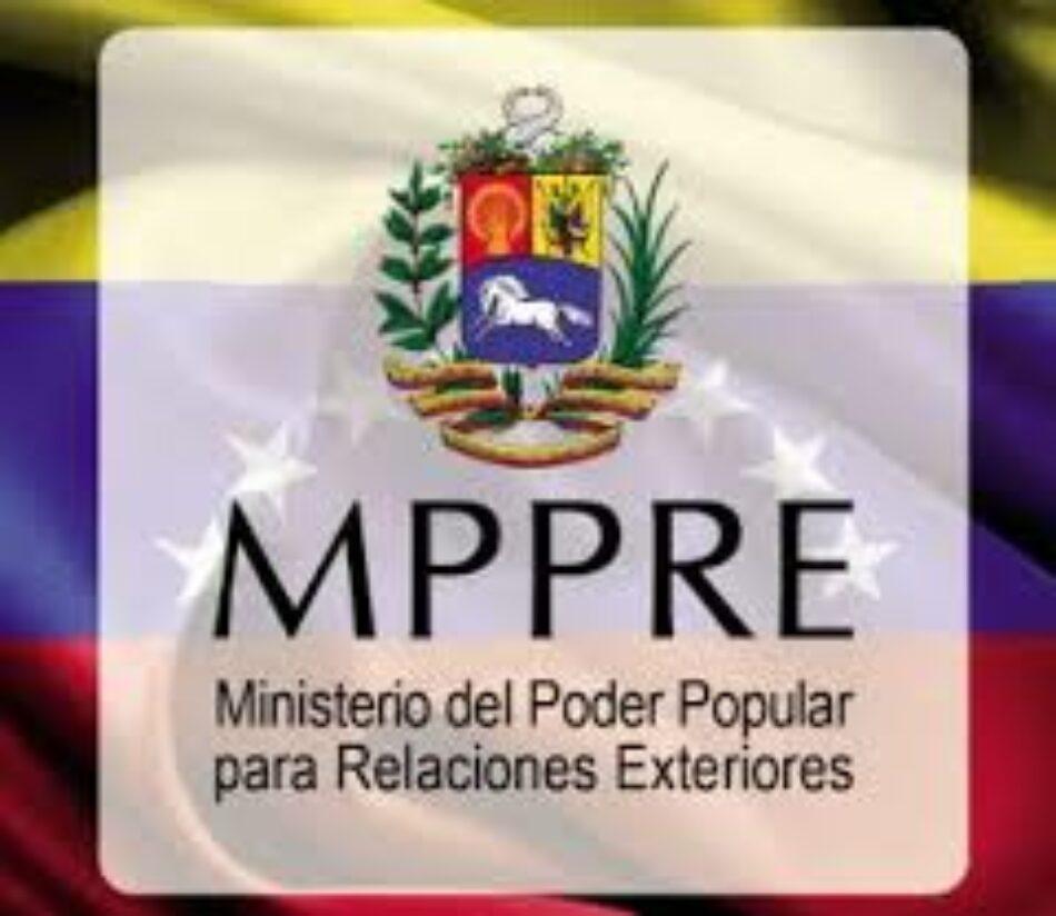 Venezuela rechaza renovación de sanciones unilaterales del Congreso de EE. UU.