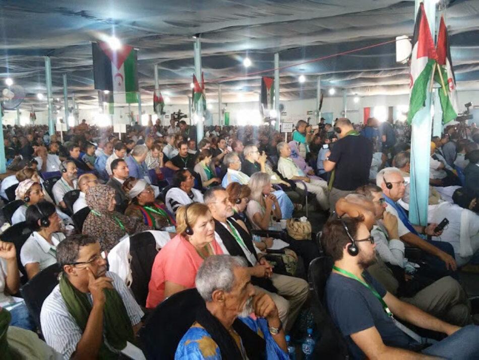Izquierda Unida asiste al XV Congreso del Frente Polisario y reafirma su «total compromiso» con las reivindicaciones de independencia del pueblo saharaui