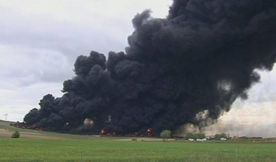 Riesgos para la salud de la población por exposición a contaminantes emitidos en el incendio de Seseña