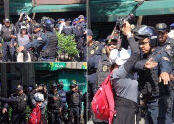 Policía de la Ciudad de México golpea a fotógrafa de 'La Jornada'