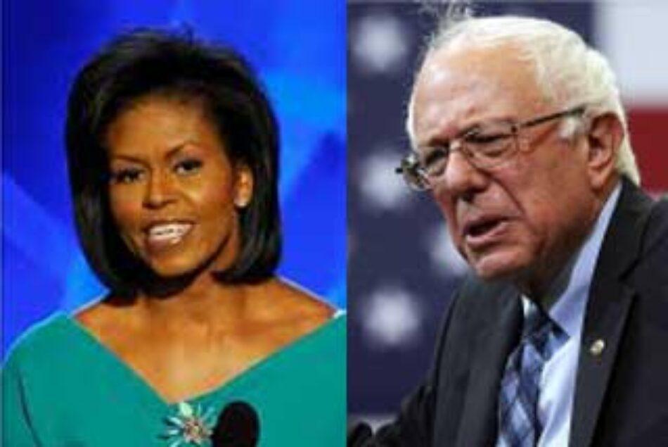 Sanders y Michell Obama abrirán Convención Demócrata en EE.UU.