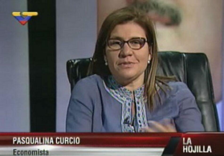 Economista Pasqualina Curcio propone al Estado regular los monopolios para derrotar la guerra económica