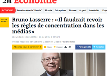 """La Autoridad de la Competencia en Francia considera que """"se deben revisar las normas de concentración en los medios de comunicación"""" para favorecer el pluralismo"""