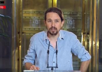 Pablo Iglesias: «lo lógico es explorar la vía que nosotros hemos indicado muchas veces. El PSOE tiene que elegir»