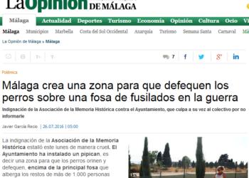 Podemos Andalucía propone ubicar un parque infantil sobre la antigua fosa de San Rafael de Málaga para dignificar su recuerdo