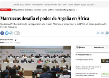 La noticia «Marruecos desafía el poder de Argelia en África» no es correcta