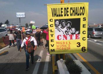 México: Protestan maestros de la CNTE en Edomex