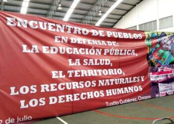 """México/ Chiapas: """"lucharemos hasta abrogar la mal llamada reforma educativa"""", Pueblos en defensa del territorio."""