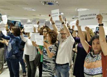 Protestas por manipulación en TVE y TVG