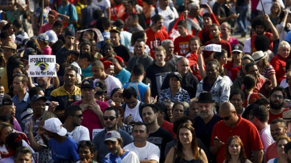 Llaman en Brasil a manifestarse a favor de Dilma en inicio Olimpiada