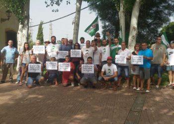 Asamblea del SAT en Arquillos sobre la finca Calderón, 10 años trabajada por jornaleros del Sindicato, ahora a subasta por la CHG