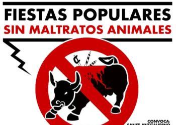 Manifestación 'Sanse Antitaurino': «Por unas fiestas populares sin maltratos animales»