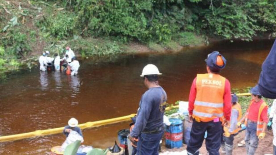 Petro-Perú responsabiliza a terceros por nuevo derrame de crudo
