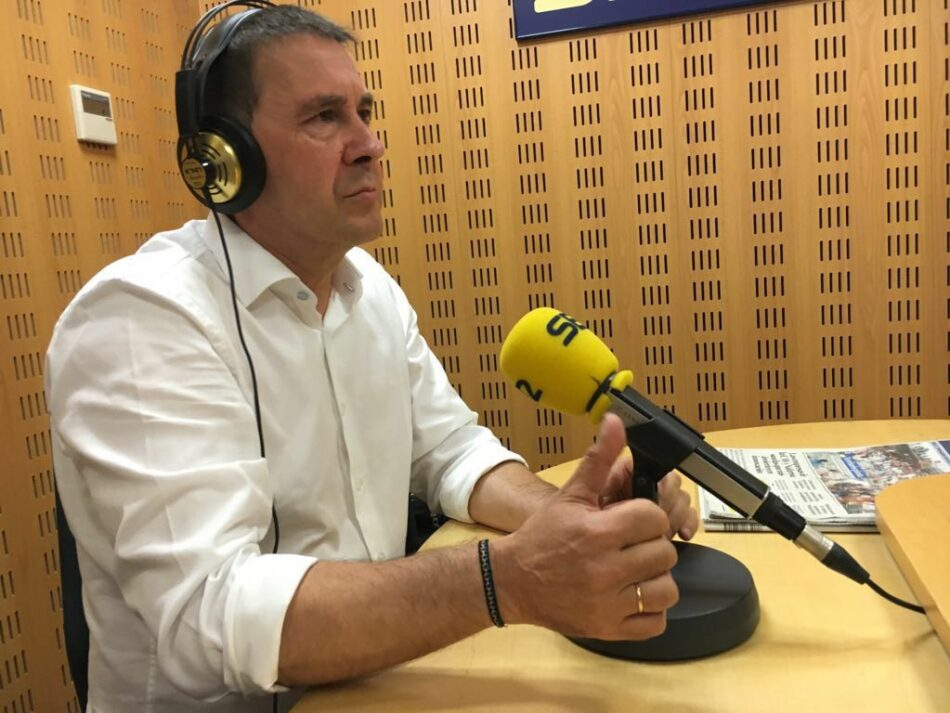 Arnaldo Otegi: Si Podemos quiere ser parte de la solución estamos dispuestos a generar espacios de encuentro y acuerdo